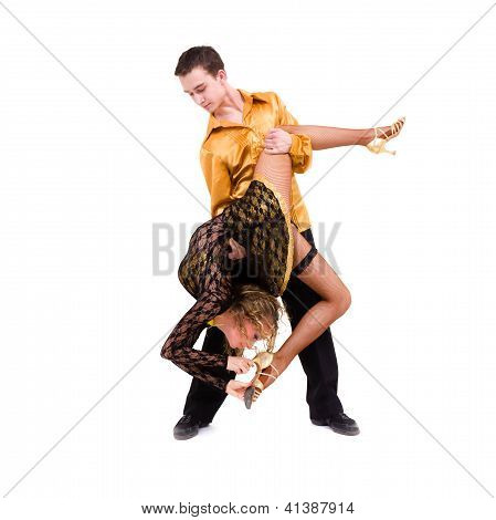 Two Young Modern Acrobats Dancing