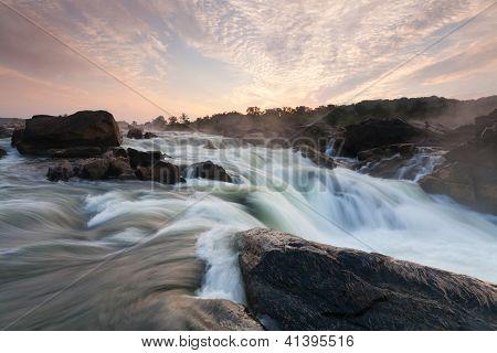 Great Falls Waterfall Potomac River at Dawn