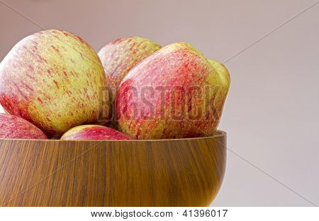 Fresh ripe cameo apples