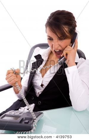 Angry Executive On the Phone