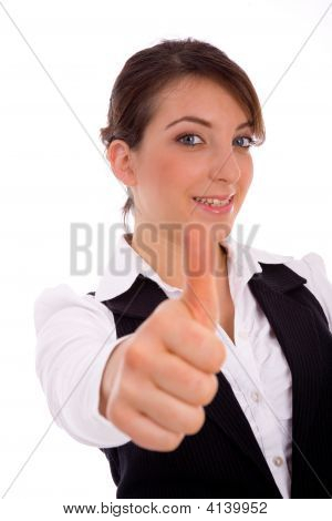 Portrait Of Executive With Thumbsup