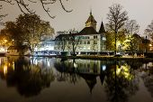 Swiss National Museum (schweizerisches Landesmuseum) In Zurich At Night, Switzerland