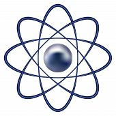 picture of proton  - Vector illustration of atom part on white background - JPG