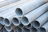 picture of asbestos  - asbestos pipes in a storage - JPG