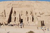 Visitor at the Abu Simbel Temple