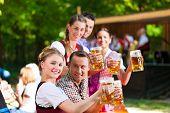 image of lederhosen  - In Beer garden in Bavaria - JPG