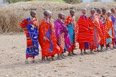 African women from Masai tribe