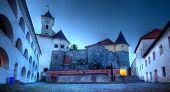 Постер, плакат: Вид на старый замок Паланок или Мукачевский замок