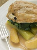 Chicken Breast And Celery Cooked In A Cider Sauce poster