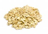 picture of oats  - the Oat flakes on white background close up - JPG