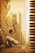 foto of broadway  - old historical new york background with broadway - JPG