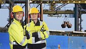 stock photo of iron ore  - Two dockers - JPG
