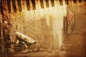 picture of broadway  - old historical new york background with broadway - JPG