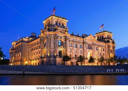 Reichstag Berlin Night