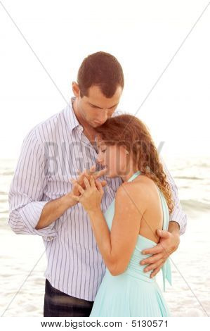 Young Couple Having Close Intimate Conversation