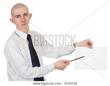 Guy With The Financial Graph In Hands