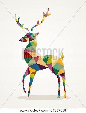 Merry Christmas Trendy Abstract Reindeer Eps10 File.