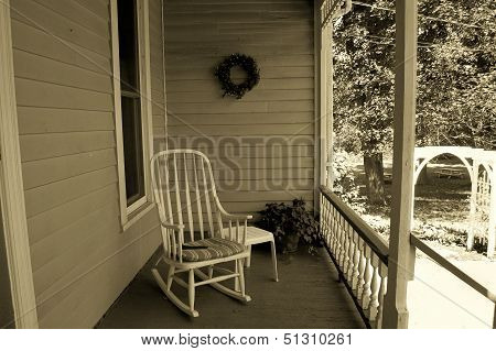 Clapboard Porch and Rocking Chair