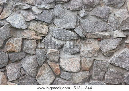 Stone wall. Fragment.