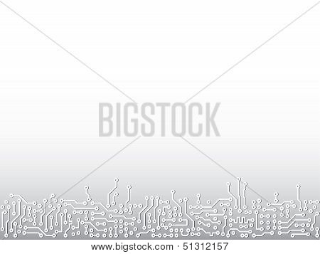 Abstract Vector Background With Electronic Paths