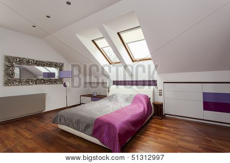 Purple Luxurious Bedroom