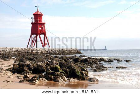 Playa de la Coruña y rocas