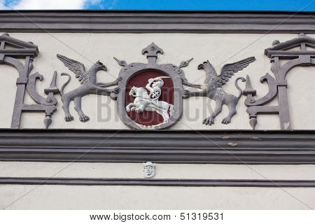 Detail Of Gate Of Dawn In Vilnius