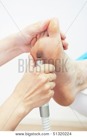 procedure for foot in a beauty salon