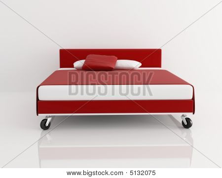 Red And White Bed