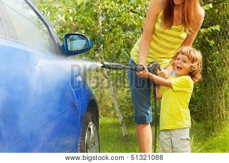 Little Boy Was The Car
