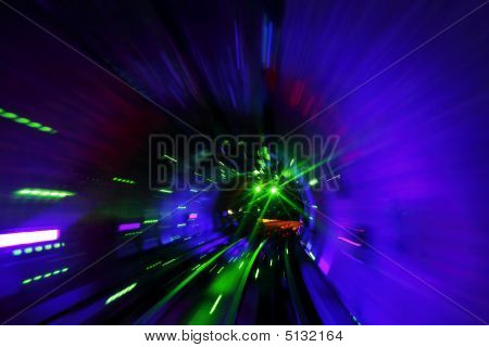 Tunnel Laser Light
