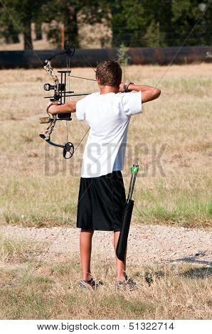 Teen Boy Bow Hunting