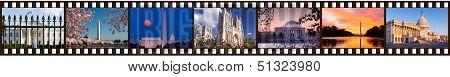 Film Strip Of Washington Dc Sights