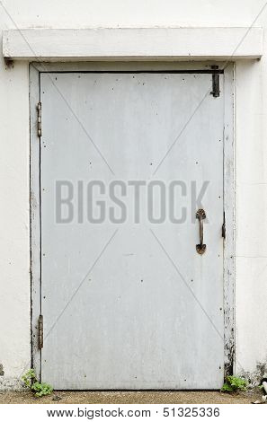 Old Metal Back Door