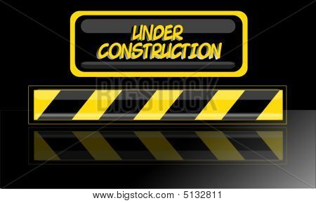 Under Construction Sign For Webpage Etc