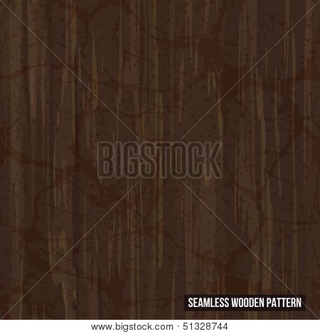 Vector seamless old wood texture. EPS10