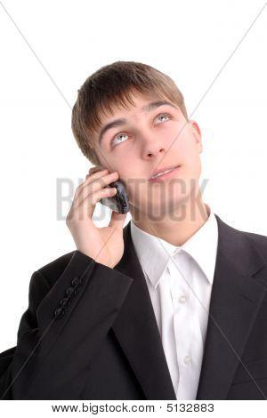 Teenager Speak Phone