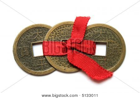 Three Chinese Coins - Symbol Of Wealth