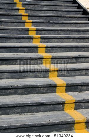 Wooden Step In The Eastern Royal Tombs Of The Qing Dynasty, China