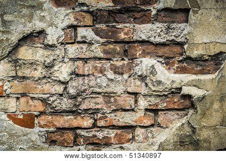 Vintage Yellow Brick Wall Pattern Background