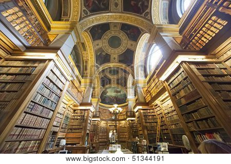 The library, Assemblee Nationale, Paris, France
