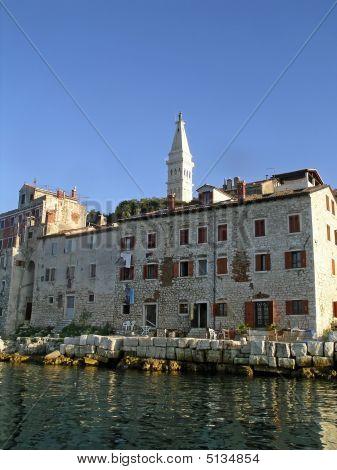 Seafront Buildings In Rovinj, Croatia.