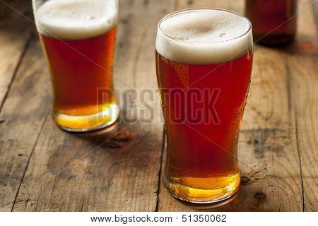 Cool Refreshing Dark Amber Beer