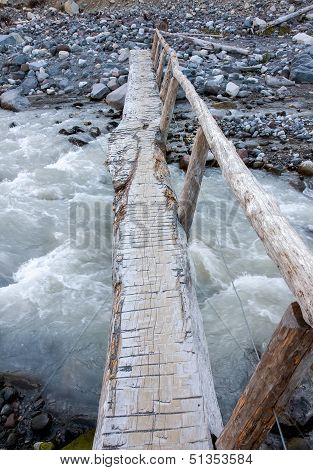 Bridge Over Rushing Waters