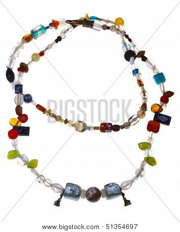 Necklace From Mineral And Figurines Of Buddha