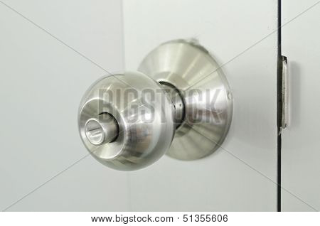 Old Stainless Steel Doorknob