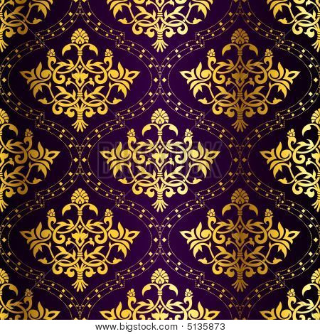 Designer Patterned Wallpaper Pink and Gold - Designer from
