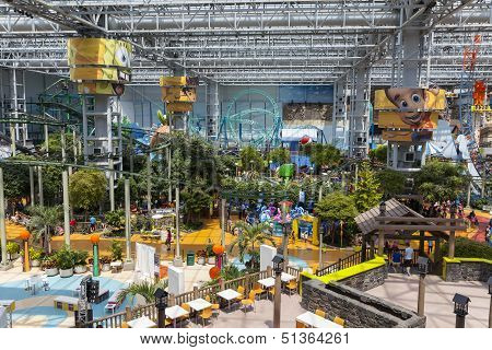 The Amusement Park At Mall Of America In Bloomington, Mn On July 06, 2013