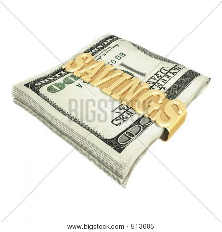 Savings Money Clip 3d