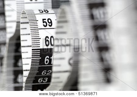 Centimeter With Numbers 90 And 60